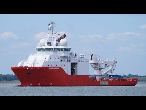 SEABED WORKER - Offshore support/supply vessel outbound from harwich 16/5/19