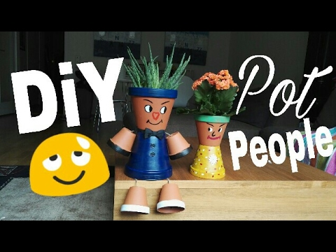 Diy Clay Pot People😐🌻|| LisaA🌻