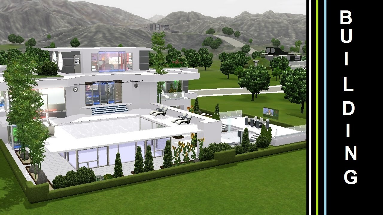 The Sims 3 - Into The Future - Building a Futuristic House - Green ...