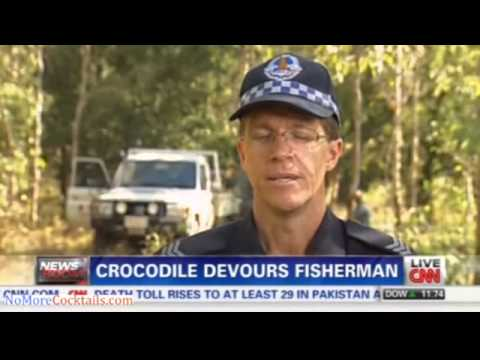 15 foot crocodile in Australia grabs man from his boat; Remains found in the croc