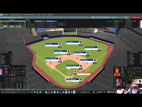 OOTP Baseball 17 - Dodgers 1948 - vs NY Giants