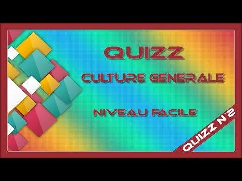 Quizz culture générale n°2 (niveau facile)