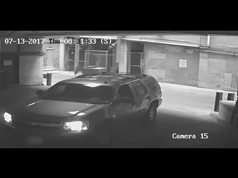 Car plunges from downtown Austin parking garage