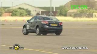 Euro NCAP | Toyota Avensis | 2009 | ESC test