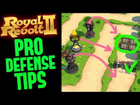 ROYAL REVOLT 2 - PRO DEFENSE TIPS!!