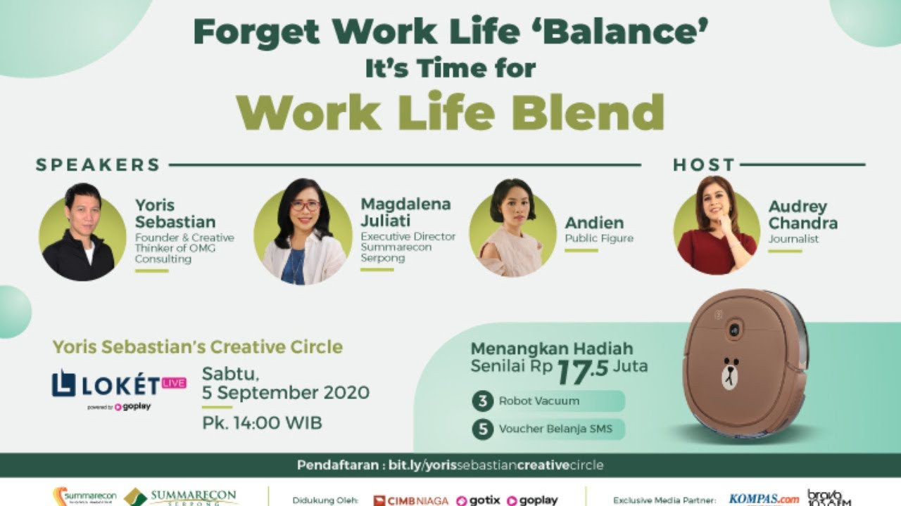 Forget Work Life Balance It S Time For Work Life Blend Youtube