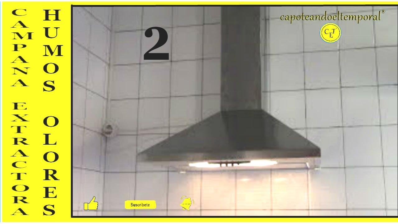 como instalar una campana extractora gases humos olores