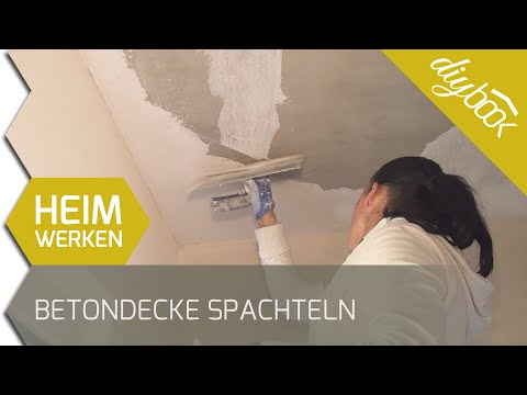 Beliebt Betondecke spachteln - YouTube TB63