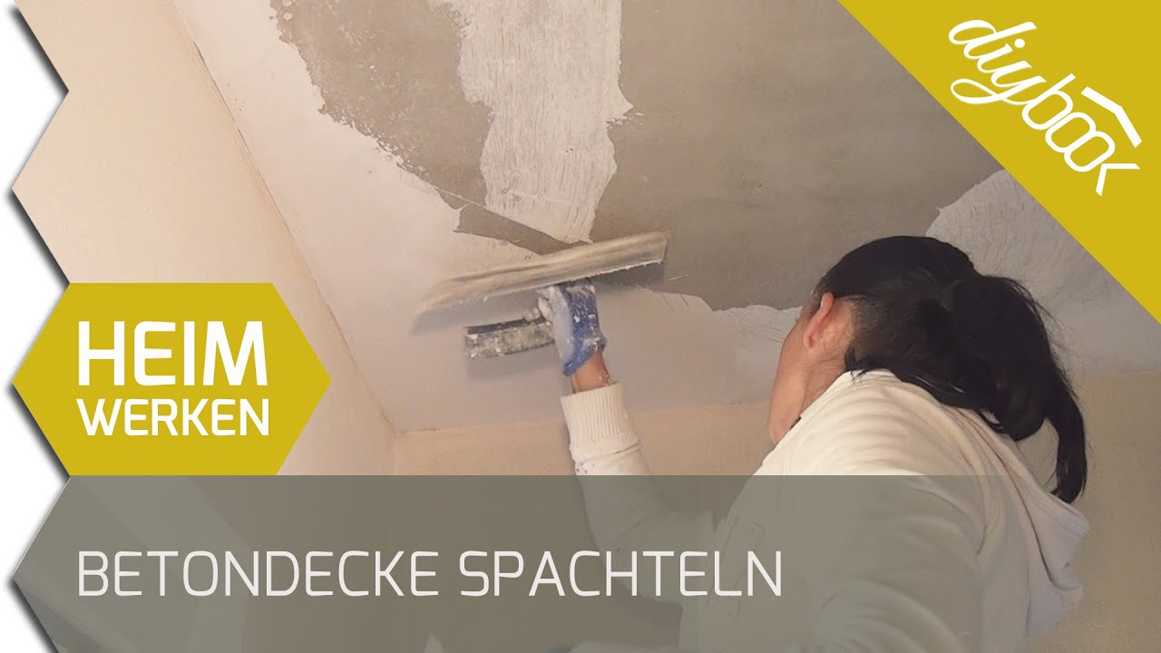 Rollputz Decke Betondecke Spachteln - Youtube