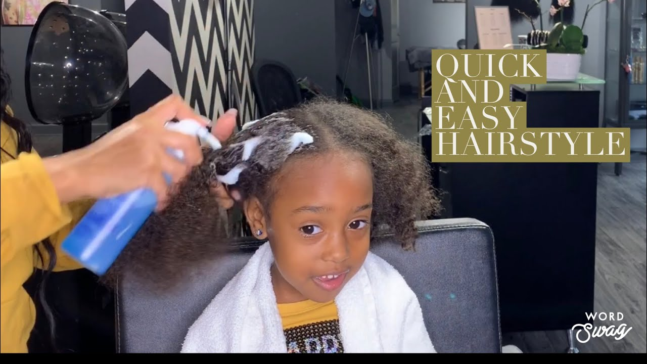 Super quick and easy kids hairstyle