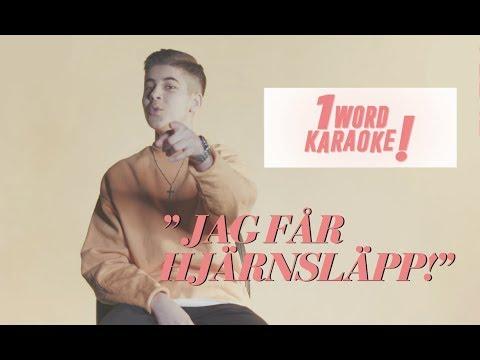 'HJRNSLPP!' / Bishara sjunger Bieber, Adele & nationalsngen i '1 word karaoke'