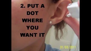 How to pierce your cartilage at home