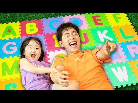 ABC 알파벳 퍼즐매트로 영어 배우기! 알파벳송 인기동요 놀이 ABC Song Nursery Rhymes for kids! - 마슈토이 Mashu ToysReview