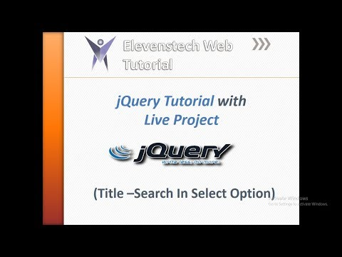 Search in select option using JQuery thumbnail