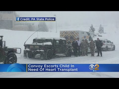 PA State Police Convoy Escorts Child In Need Of Heart Transplant