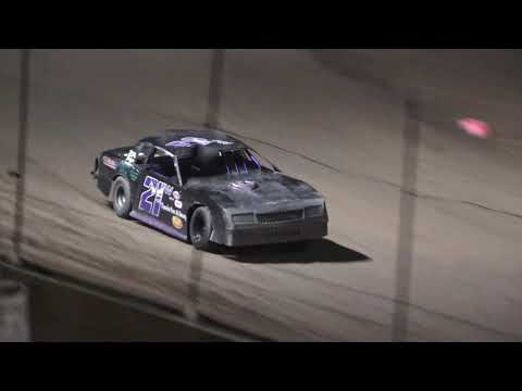 B Feature 1 (12 Laps): 65-Logan Gilmore, 17-Chuck Kaake, 21W-George Wease, 53-Rich Brock, 07-Billy Frey, 12-Jered King, (DNS) 51D-Matt Duggan. - dirt track racing video image