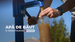 INVESTIGAȚIE RECORDER. Cum se transformă banii europeni în apă contaminată