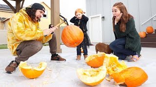 Try Not To Smash The Wrong Mystery Pumpkin!!!