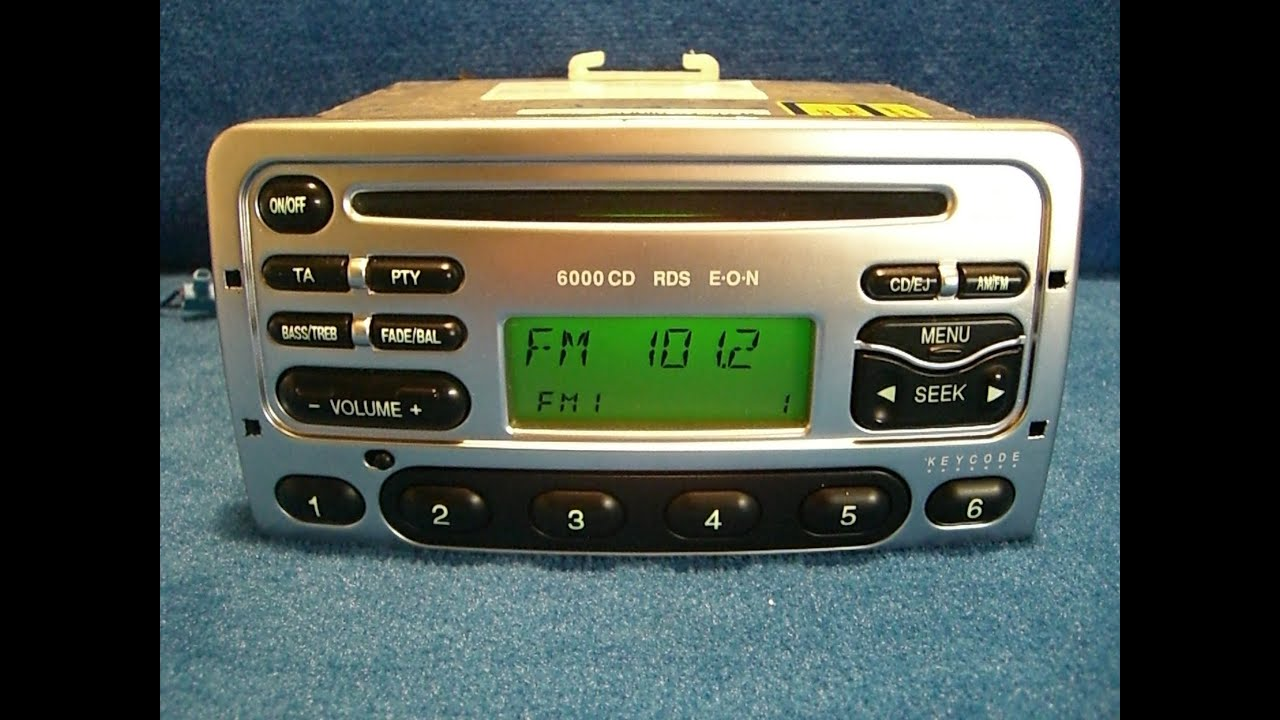 ford 6000 cd radio autoradio carradio car 97fp 18c815 da. Black Bedroom Furniture Sets. Home Design Ideas