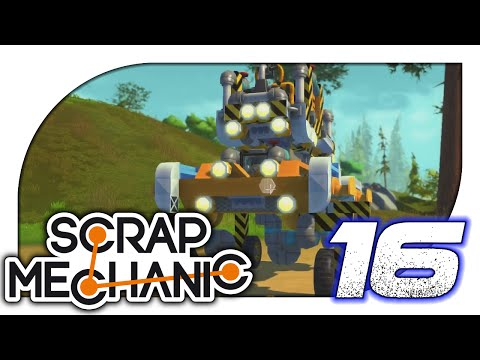 Scrap Mechanic - 16. Car Decoration & Folding Furniture - Let's Play Scrap Mechanic Gameplay