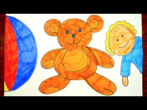 How To Draw A Teddy Bear | Easy Drawing Video For Kids ...