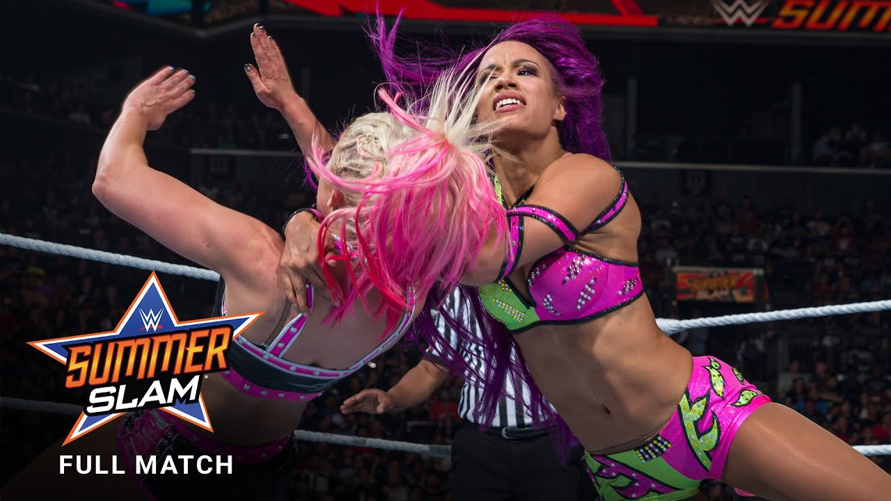 Download FULL MATCH - Alexa Bliss vs. Sasha Banks - Raw Women's Title Match: SummerSlam 2017
