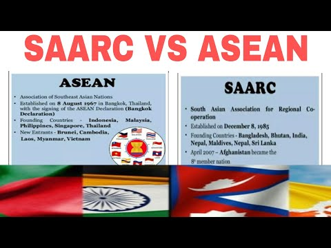 SAARC VS ASEAN|SAARC|ASEAN|and INDIA|hindi|
