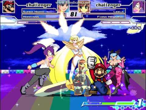 ST9 M.U.G.E.N Request #57 Super Mario And Morrigan VS Leela And Fiona