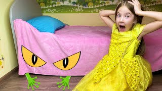 Маша и мама и странный гость под кроватью.