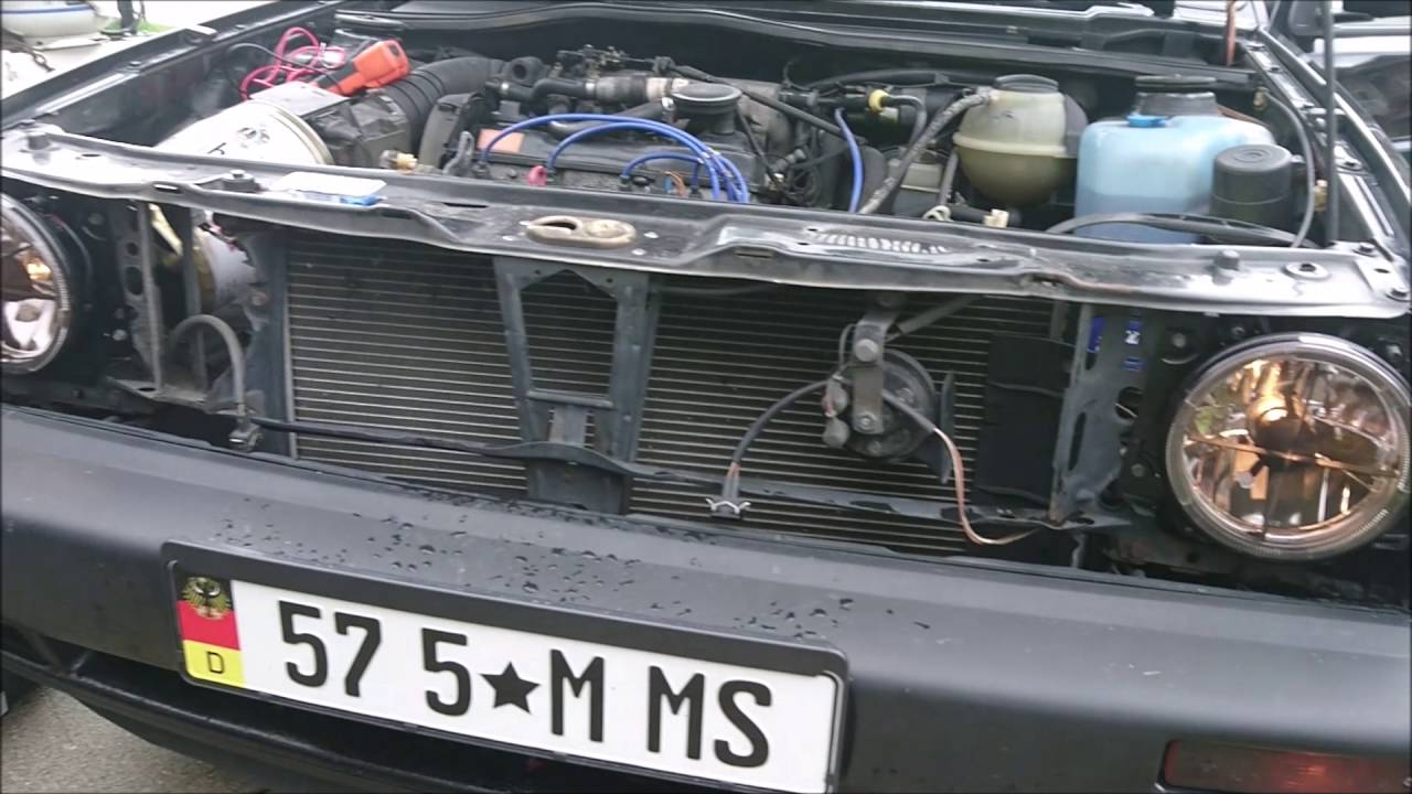 how to remove and change grill and headlights on mk2 vw golf gti mark 2 [ 1280 x 720 Pixel ]