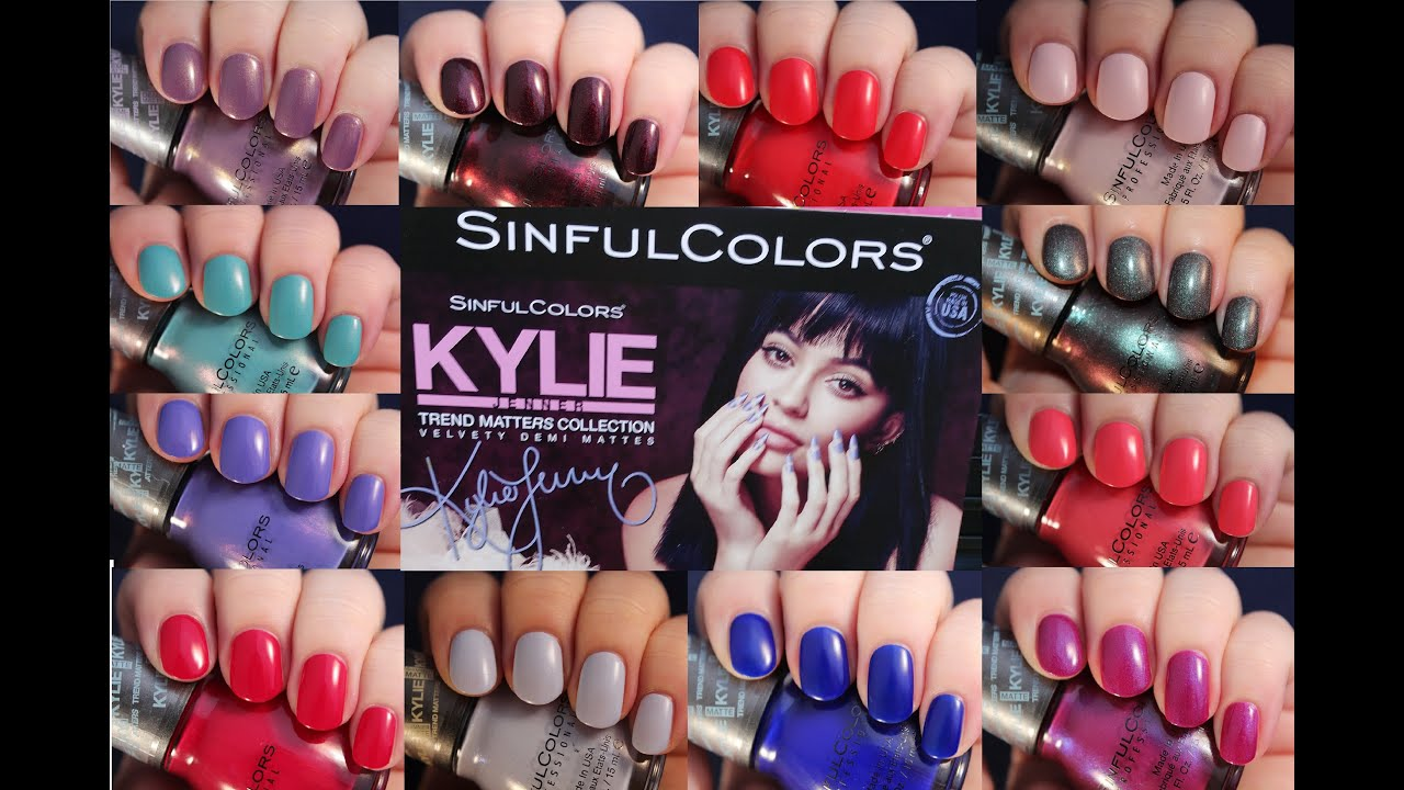 Sinful Colors Kylie Jenner Trend Matters | Live Application Review ...