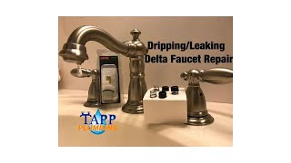 how to repair leaking dripping delta faucet