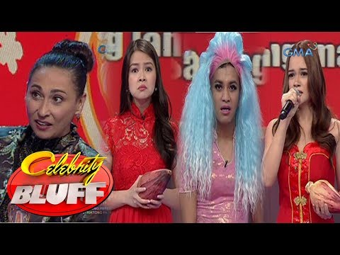 Celebrity Bluff:  Cherie, Barbie, Yasmien,  at Boobay, nagtapatan sa saging workshop