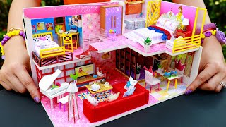 DIY Miniatures Dollhouse Bathroom and Bedroom ~ Belle (Beauty and the Beast) 5 Rooms Decor
