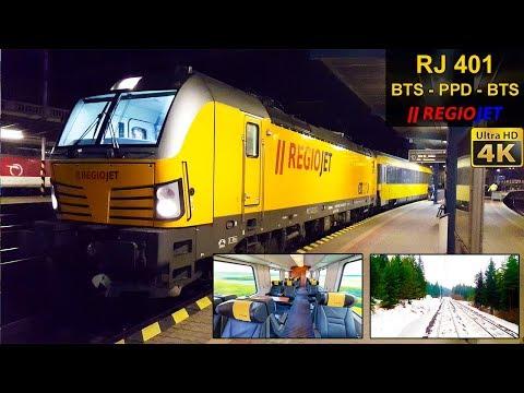 TRAIN EXPERIENCE | Bratislava to Poprad-Tatry | REGIOJET EuroTrain | BUSINESS CLASS