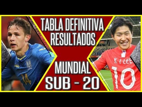Tabla Posiciones y Resultados Mundial Sub 20 2019 FINAL Ucrania vs Corea 🔥 #MundialSub20 #Sub20 from YouTube · Duration:  3 minutes 51 seconds