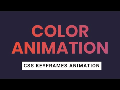 How to Change Text Color using CSS Keyframes Animation