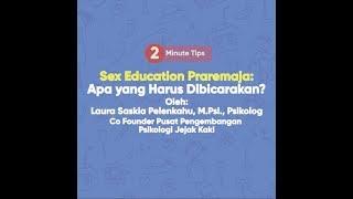 Sex Education Pra Remaja: Apa yang Harus Dibicarakan?