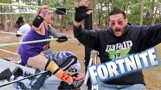 Backyard Wrestling Gone Wrong vs Halloween Fortnite Game Master!