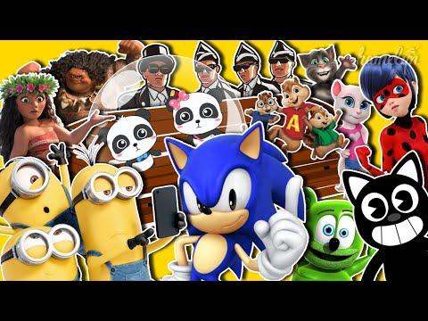 Coffin Dance MEGAMIX 13 - Sonic & Cartoon Cat & Minions & Babybus & Moana & Ladybug & Chipmunks &Tom |