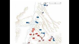 La Batalla de la Angostura Buena Vista 1847 mapa de batalla animado