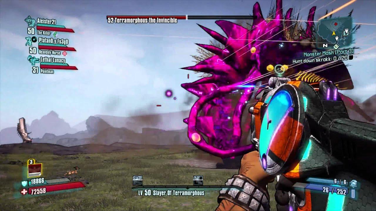 Borderlands 2 Terramorphous Kill With Smg Easy Epic Smg