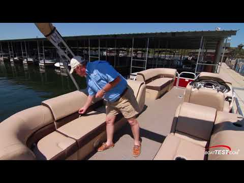 Sun Tracker Party Barge 22 XP3 (2018-) Test Video - By BoatTEST.com Mp3