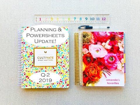 Q-2 Planning & PowerSheets UPDATE- | 2019 |