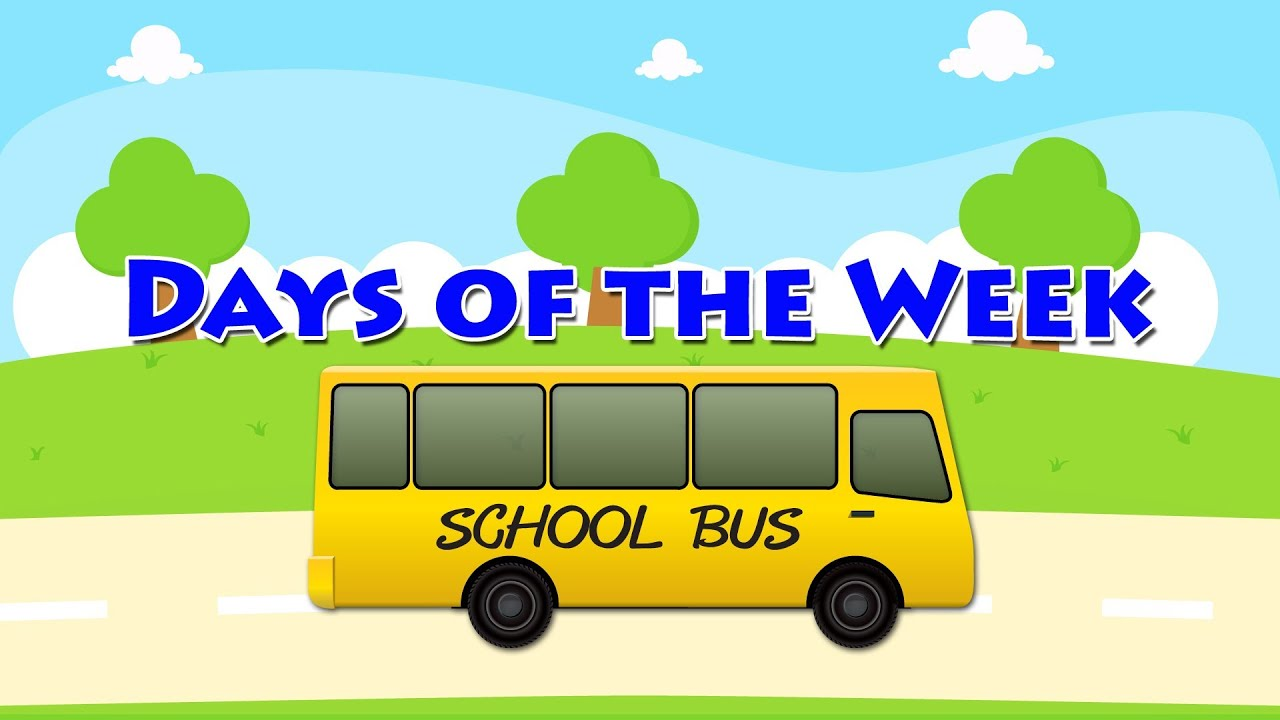 """Learn English """" Days of the Week with School Bus ..."""