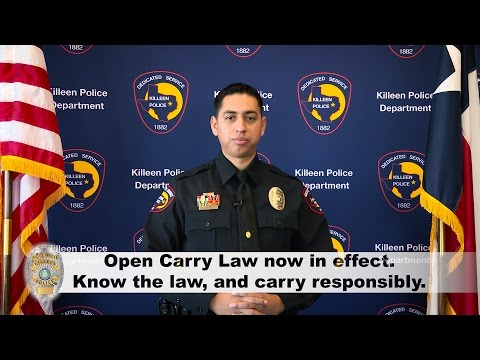 Open Carry PSA - Updated July 2016