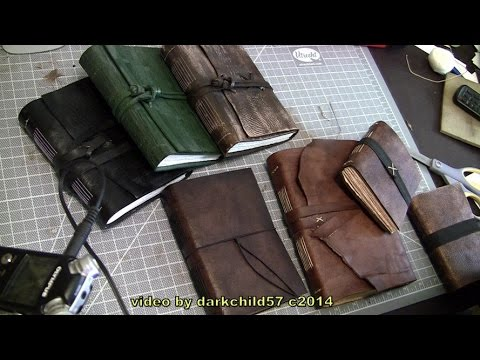 DIY Leather Journal (see description for more info) - YouTube