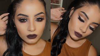 Easy Cut Crease Makeup Tutorial   Kylie Jenner Brown Lips
