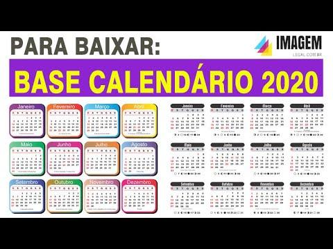 Calendario 2020 Gratis Con Foto.Base De Calendario 2020 Com Feriados Png E Corel Gratis Para Baixar