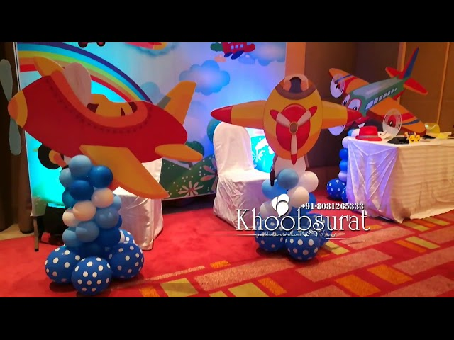 daksh aeroplane theme birthday khoobsurat events
